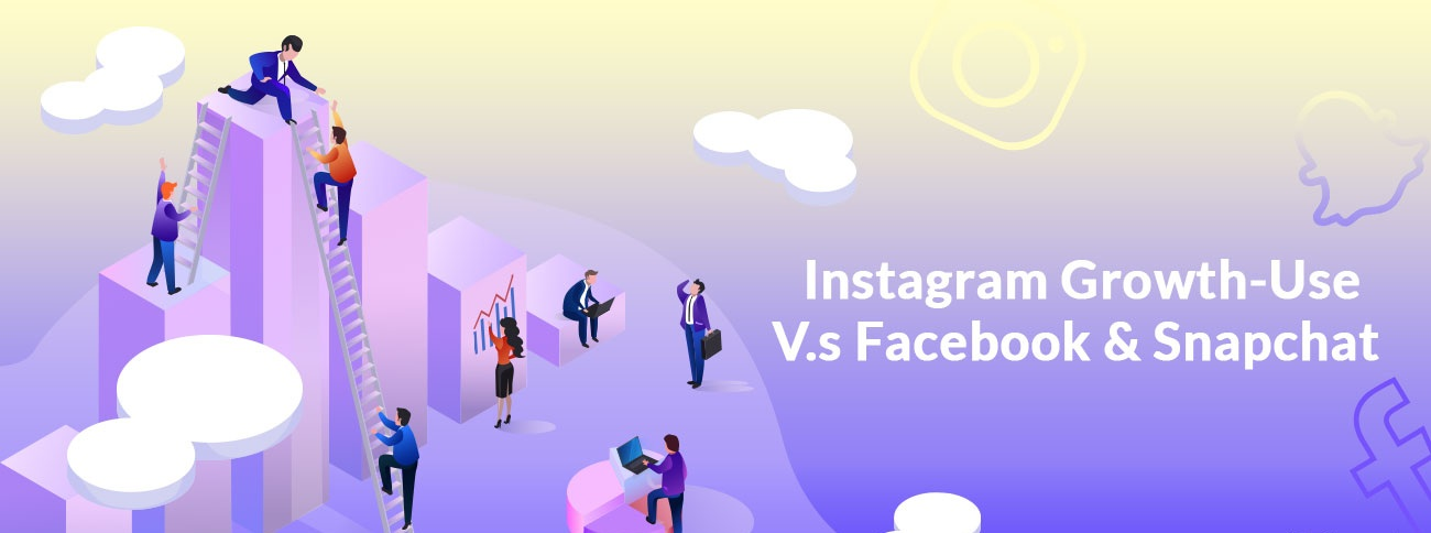 Crecimiento de Instagram vs. Facebook y Snapchat