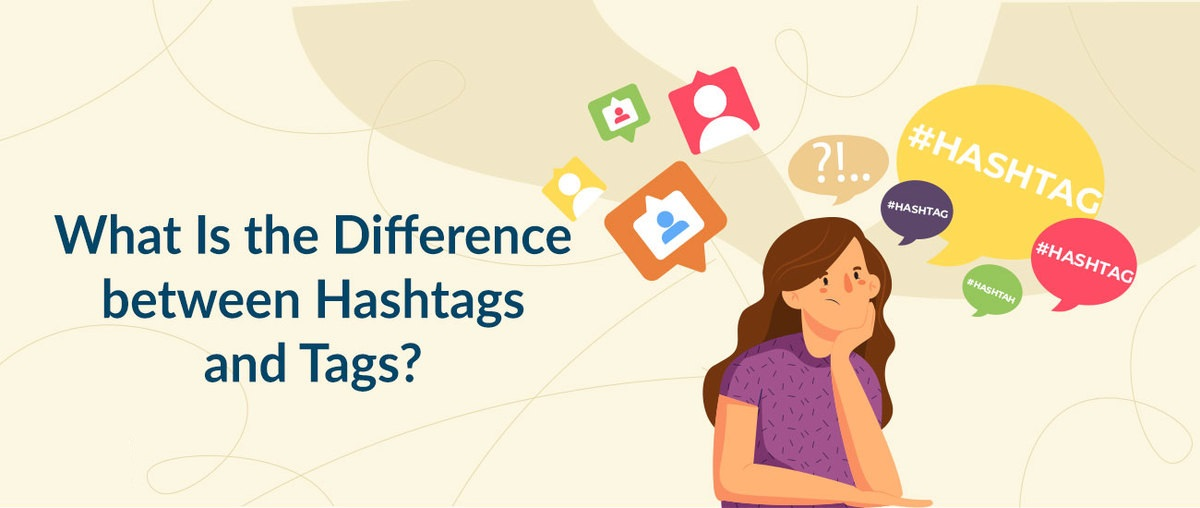 ¿Cuál es la diferencia entre hashtags y etiquetas?
